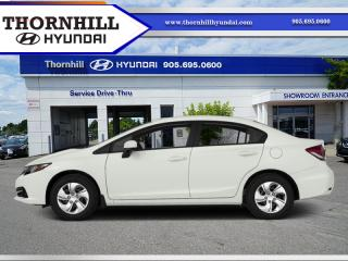 Used 2014 Honda Civic Sedan LX  - Bluetooth -  Heated Seats for sale in Thornhill, ON