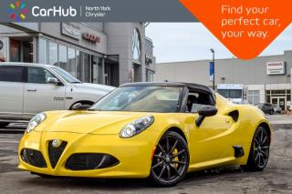 Used 2017 Alfa Romeo 4C Coupe Spider|CarbonFiberInt,Convi,SpiderTrack IIII Pkgs|18