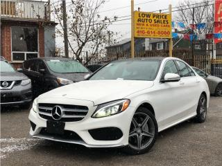 Used 2016 Mercedes-Benz C-Class AWD*Navi*Camera*Xenon*AMGPkg*FullOpti* for sale in Toronto, ON