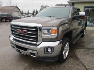 Used 2015 GMC Sierra 2500 3/4 TON ALL-TERRAIN EDITION 5 PASSENGER 6.6L - V8.. 4X4.. CREW.. 6 & 1/2 FOOT BOX.. LEATHER.. NAVIGATION.. SUNROOF.. TRAILER BRAKE.. POWER PEDALS.. for sale in Bradford, ON