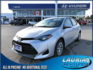 Used 2018 Toyota Corolla for sale in Port Hope, ON