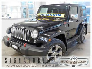 Used 2016 Jeep Wrangler SAHARA,4X4,AC,CRUISE,MAGS for sale in Rivière-Du-Loup, QC