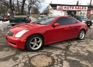 Used 2006 Infiniti G35 6 Speed Manual/Leather/Roof/AS IS SPECIAL for sale in Scarborough, ON