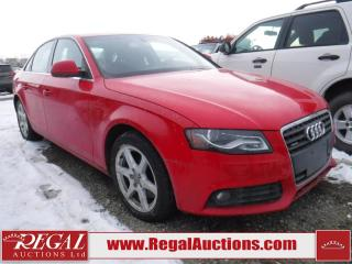 Used 2009 Audi A4 2.0T 4D Sedan Qtro AWD for sale in Calgary, AB