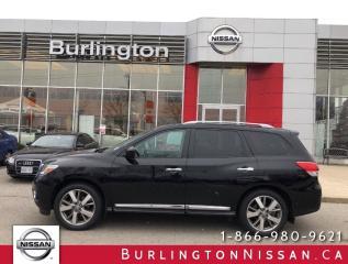 Used 2016 Nissan Pathfinder Platinum, ACCIDENT FREE, 1 OWNER ! for sale in Burlington, ON