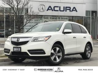 Used 2015 Acura MDX at SH-AWD, 3.5L 290HP, BKUP CAM for sale in Markham, ON