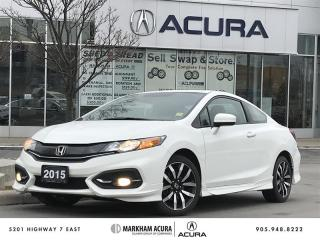 Used 2015 Honda Civic Coupe EXL-NAVI CVT MOONRF, BKUP CAM, KEYLSS ENTRY for sale in Markham, ON