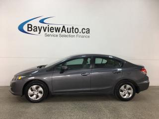 Used 2015 Honda Civic LX - BLUETOOTH! REVERSE CAM! HTD SEATS! ECO MODE! for sale in Belleville, ON