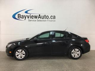Used 2014 Chevrolet Cruze 2LS - 6SPD! BUDGET BUDDY! A/C! ONSTAR! PWR GROUP! for sale in Belleville, ON