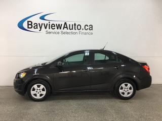 Used 2014 Chevrolet Sonic LS Auto - 50KMS! BUDGET BUDDY! ONSTAR! for sale in Belleville, ON