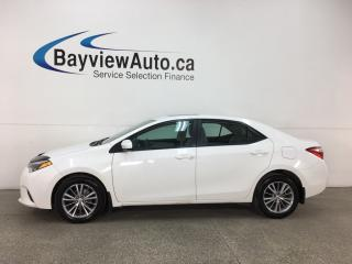 Used 2015 Toyota Corolla LE - HTD SEATS! BLUETOOTH! REVERSE CAM! CRUISE! ALLOYS! for sale in Belleville, ON