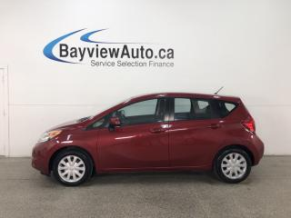 Used 2014 Nissan Versa Note 1.6 SV - BLUETOOTH! HTD SEATS! A/C! ALLOYS! CRUISE! PWR GROUP! for sale in Belleville, ON