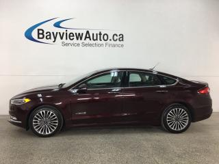 Used 2018 Ford Fusion Hybrid Titanium - HTD/COOLED LTHR! SYNC! NAV! REVERSE CAM! WIFI! SONY STEREO! for sale in Belleville, ON