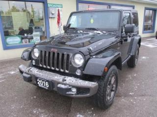 Used 2016 Jeep Wrangler LOADED 1941 EDITION 5 PASSENGER 3.6L - V6.. 4X4.. LEATHER.. HEATED SEATS.. BLUETOOTH.. REMOVABLE HARD TOP.. for sale in Bradford, ON