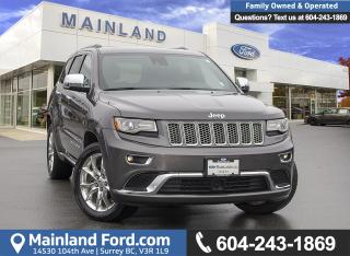 Used 2014 Jeep Grand Cherokee Summit *ACCIDENT FREE* * LOCALLY DRIVEN* for sale in Surrey, BC