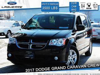 Used 2017 Dodge Grand Caravan Crew Cam Cuir for sale in Victoriaville, QC