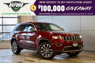 Used 2018 Jeep Grand Cherokee Limited - 3.6L, super low kms, former Chrysler exe for sale in London, ON