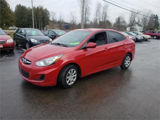 Used 2012 Hyundai Accent auto a/c safetied we finance GL for sale in Madoc, ON