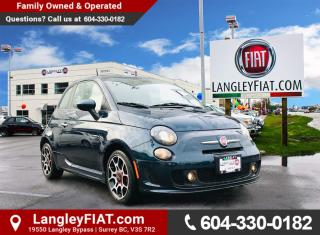 Used 2014 Fiat 500 Sport Turbo PUTS A SMILE ON YOUR FACE EVERY TIME! 135HP! NO ACCIDENTS, B.C OWNED for sale in Surrey, BC