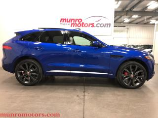 Used 2017 Jaguar F-PACE First Edition 22S 380 HP SUPERCHARGED AWD PANO for sale in St. George Brant, ON