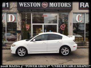 Used 2008 Mazda MAZDA3 POWER GROUP*LOCAL TRADE*UNBELIEVABLE SHAPE!!* for sale in Toronto, ON