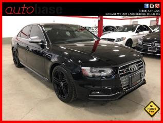 Used 2014 Audi S4 TECHNIK QUATTRO CERTIFIED LOW KM! for sale in Vaughan, ON