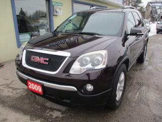 Used 2009 GMC Acadia LOADED SLT-1 MODEL 7 PASSENGER 3.6L - V6.. CAPTAINS.. 3RD ROW.. LEATHER.. HEATED SEATS.. DVD PLAYER.. DUAL SUNROOF.. for sale in Bradford, ON