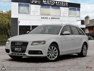 Used 2012 Audi A4 2.0T Avant *One Owner, Certified, Warranty* for sale in Toronto, ON