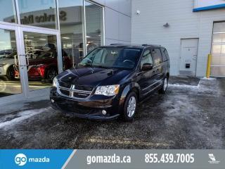 Used 2017 Dodge Grand Caravan CREWPLUS LEATHER BACKUP CAM BLUETOOTH for sale in Edmonton, AB