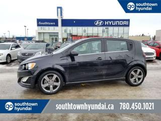 Used 2013 Chevrolet Sonic RS/6SPD/1.4TURBO/SUNROOF/LEATHER for sale in Edmonton, AB