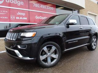 Used 2015 Jeep Grand Cherokee Summit / Sunroof / GPS Navigation / Back up Camera for sale in Edmonton, AB