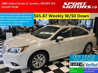 Used 2016 Subaru Legacy 2.5i w/Touring+AWD+Camera+Sunroof+HTD Seats+Xenons for sale in London, ON