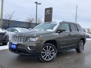 Used 2015 Jeep Compass 4X4 LIMITED for sale in Barrie, ON
