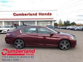 Used 2016 Honda Accord Sedan Sport  - Sunroof -  Bluetooth for sale in Amherst, NS