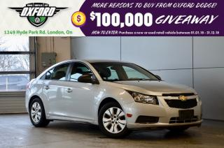 Used 2014 Chevrolet Cruze 1LS -  manual trans, lease return, touch screen for sale in London, ON