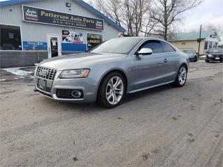 Used 2010 Audi S5 AWD 6 speed 4.2L v8 Safetied we finance for sale in Madoc, ON
