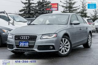 Used 2010 Audi A4 2.0T 6 SPEED QUATTRO CETIFIED SPOTLESS LEATHER AWD for sale in Bolton, ON