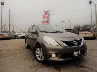 Used 2012 Nissan Versa AUTO SL GAS SAVER LOW KM NO ACCIDENT B-TOOTH AUX for sale in Oakville, ON