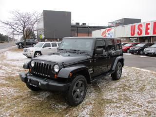 Used 2011 Jeep Wrangler Sahara Unlimited~TWO TOPS~MANUAL~EXTRA CLEAN!!! for sale in Toronto, ON