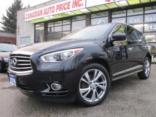 Used 2014 Infiniti QX60 AWD-NAV-LTHER-PANO-ROOF-360CAMERA-7 PASS-DVD for sale in Scarborough, ON
