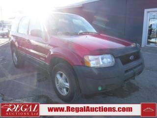 Used 2002 Ford Escape XLS 4D Utility FWD for sale in Calgary, AB