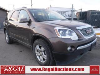 Used 2010 GMC Acadia SLT 4D Utility 4WD for sale in Calgary, AB