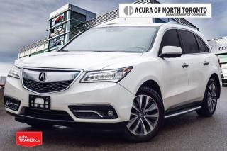 Used 2016 Acura MDX Tech 7YR Warranty Included/Accident Free| DVD| Run for sale in Thornhill, ON