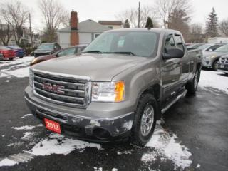 Used 2013 GMC Sierra 1500 WORK READY SLE 6 PASSENGER 4.8L - V8.. 4X4.. EXTENDED.. SHORTY.. LEATHER.. ON-STAR.. for sale in Bradford, ON