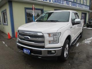 Used 2017 Ford F-150 LOADED LARIAT MODEL 5 PASSENGER 5.0L - V8.. 4X4.. CREW.. SHORTY.. LEATHER.. HEATED/AC SEATS.. NAVIGATION.. SUNROOF.. BACK-UP CAMERA..TRAILER ASSIST.. for sale in Bradford, ON
