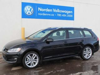 Used 2017 Volkswagen Golf SPORTWAGEN 1.8 TSI HIGHLINE 4MOTION AUTOMATIC W/ LIGHT AND SOUND / DRIVER ASSIST for sale in Edmonton, AB