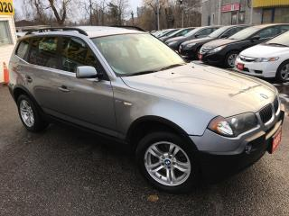 Used 2005 BMW X3 3.0I/ AUTO/ PANORAMIC SUNROOF/ LEATHER/ ALLOYS! for sale in Scarborough, ON