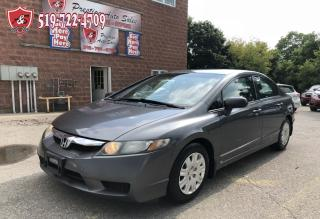 Used 2009 Honda Civic DX/CERTIFIED/WARRANTY INCLUDED for sale in Cambridge, ON