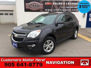 Used 2015 Chevrolet Equinox LT w/2LT  2LT NAV LEATH CAM 2X-8W-SEATS P/GATE MYLINK PREM-AUDIO for sale in St. Catharines, ON