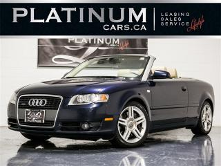 Used 2007 Audi A4 2.0T quattro, CONVERTIBLE, Wood TRIM, Heated Lthr for sale in Toronto, ON